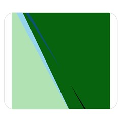 Green design Double Sided Flano Blanket (Small)
