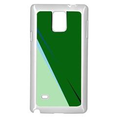 Green design Samsung Galaxy Note 4 Case (White)
