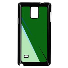 Green design Samsung Galaxy Note 4 Case (Black)