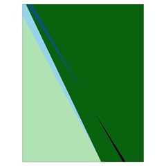 Green design Drawstring Bag (Large)