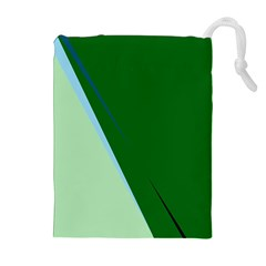 Green Design Drawstring Pouches (extra Large)