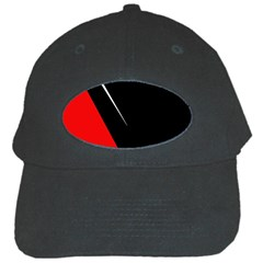 Black and red design Black Cap