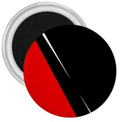 Black and red design 3  Magnets