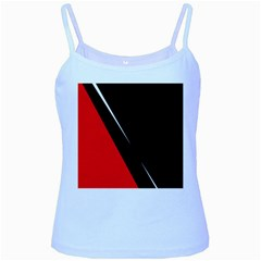 Black and red design Baby Blue Spaghetti Tank