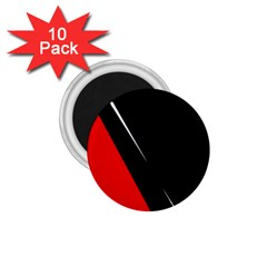 Black and red design 1.75  Magnets (10 pack)
