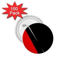 Black and red design 1.75  Buttons (100 pack)