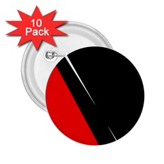 Black and red design 2.25  Buttons (10 pack)