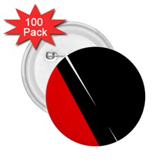 Black and red design 2.25  Buttons (100 pack)