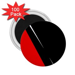 Black and red design 2.25  Magnets (100 pack)