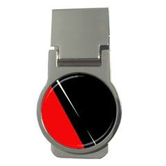 Black and red design Money Clips (Round)