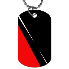 Black and red design Dog Tag (Two Sides)