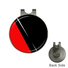 Black and red design Hat Clips with Golf Markers
