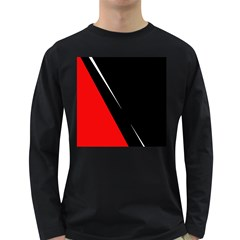 Black and red design Long Sleeve Dark T-Shirts