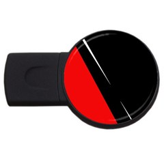 Black And Red Design Usb Flash Drive Round (4 Gb)