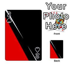 Black and red design Playing Cards 54 Designs
