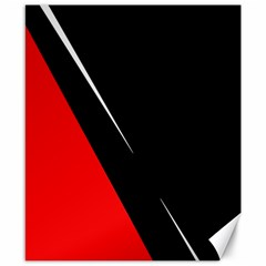 Black and red design Canvas 8  x 10