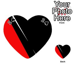 Black and red design Playing Cards 54 (Heart)