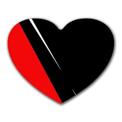 Black and red design Heart Mousepads