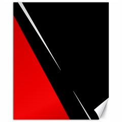Black and red design Canvas 11  x 14