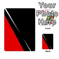 Black and red design Multi-purpose Cards (Rectangle)