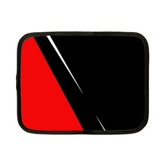 Black and red design Netbook Case (Small)