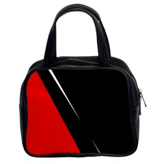 Black and red design Classic Handbags (2 Sides)