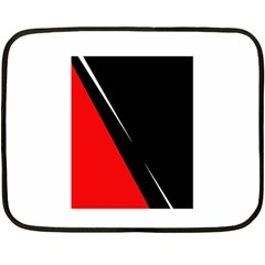 Black and red design Double Sided Fleece Blanket (Mini)