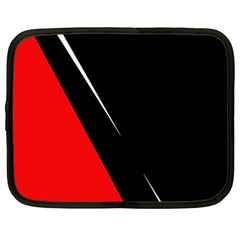 Black and red design Netbook Case (XXL)