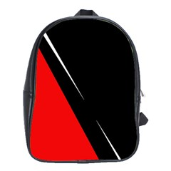 Black and red design School Bags(Large)