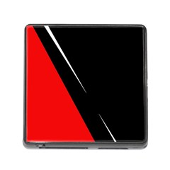 Black and red design Memory Card Reader (Square)