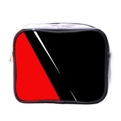 Black and red design Mini Toiletries Bags