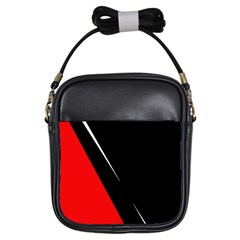 Black and red design Girls Sling Bags