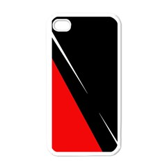 Black and red design Apple iPhone 4 Case (White)