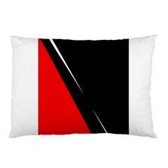 Black and red design Pillow Case (Two Sides)