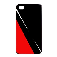 Black and red design Apple iPhone 4/4s Seamless Case (Black)