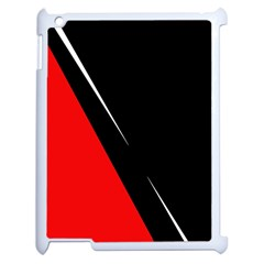 Black and red design Apple iPad 2 Case (White)
