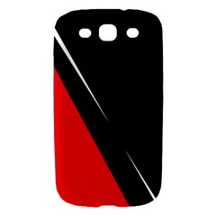 Black and red design Samsung Galaxy S III Hardshell Case