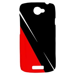 Black and red design HTC One S Hardshell Case