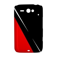 Black and red design HTC ChaCha / HTC Status Hardshell Case