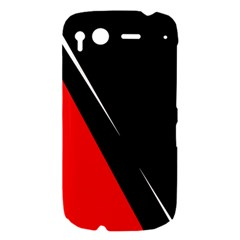 Black and red design HTC Desire S Hardshell Case