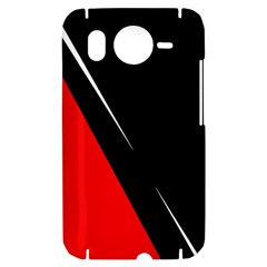 Black and red design HTC Desire HD Hardshell Case