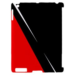 Black and red design Apple iPad 2 Hardshell Case (Compatible with Smart Cover)