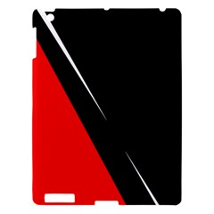 Black and red design Apple iPad 3/4 Hardshell Case