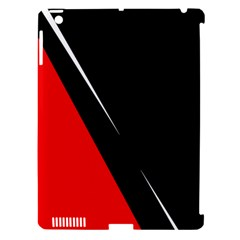 Black and red design Apple iPad 3/4 Hardshell Case (Compatible with Smart Cover)