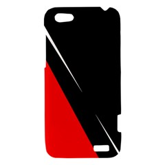 Black and red design HTC One V Hardshell Case