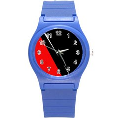 Black and red design Round Plastic Sport Watch (S)