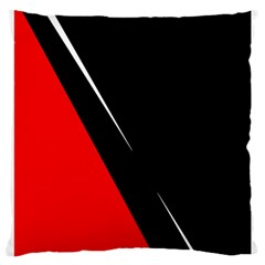 Black and red design Large Cushion Case (Two Sides)