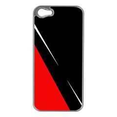 Black and red design Apple iPhone 5 Case (Silver)