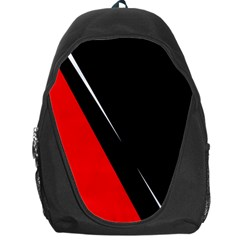 Black and red design Backpack Bag