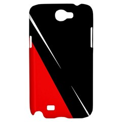 Black and red design Samsung Galaxy Note 2 Hardshell Case